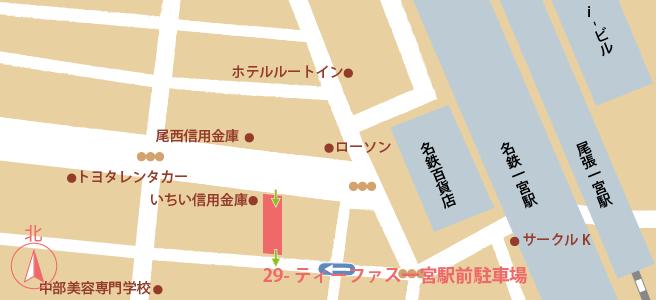 20170109ティーファス一宮駅前駐車場