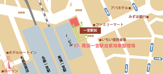 20170106尾張一宮駅自家用車整理場