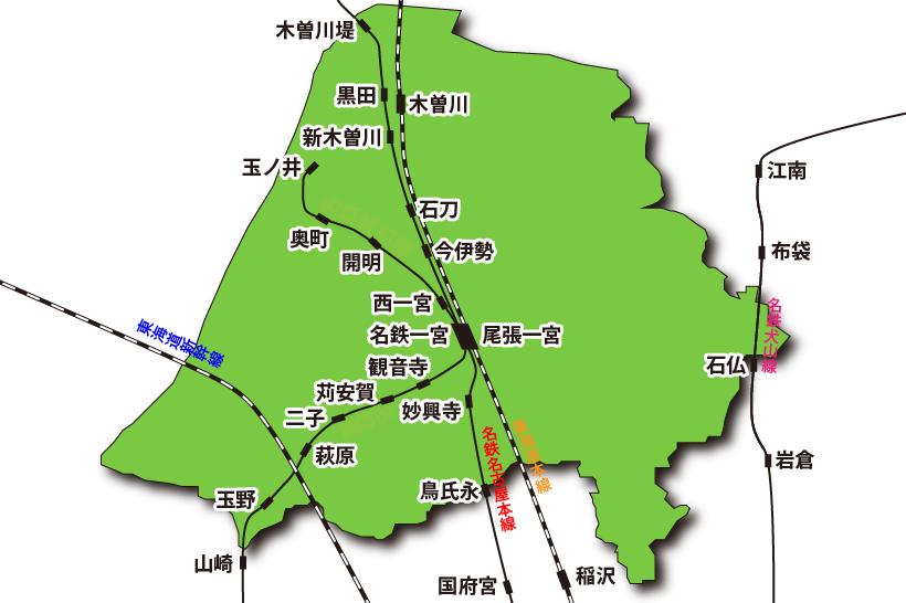 20150617一宮市内の鉄道網