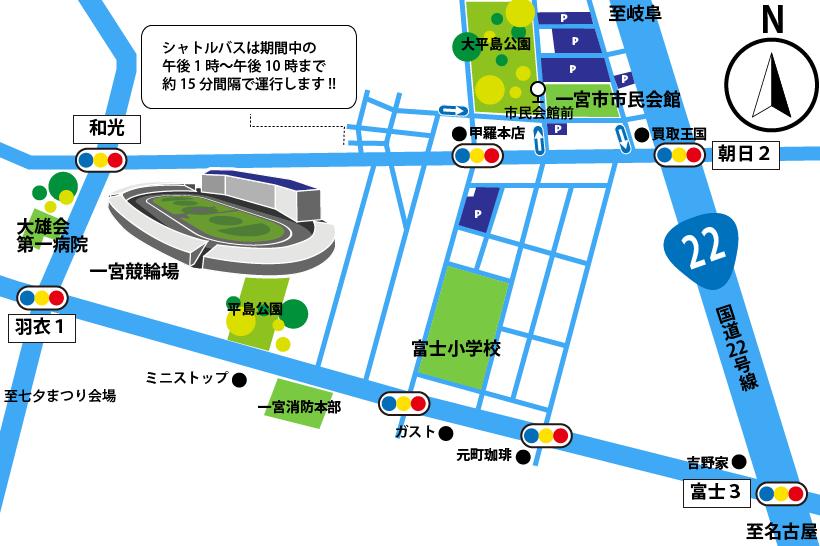 20170710七夕の臨時駐車場