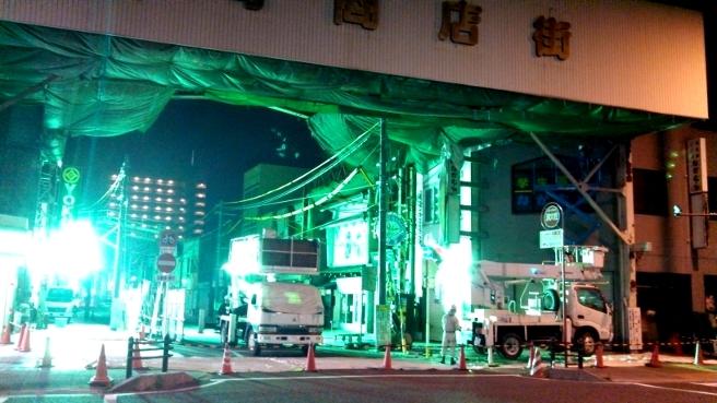 本町アーケードの撤去の進捗