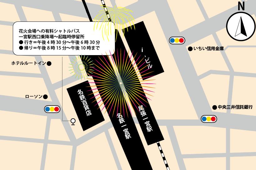 20180806一宮駅の臨時駐車場