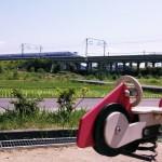 JR東海道新幹線が、一宮市の南西部を通っています