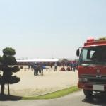 一宮市消防団警防技術発表会が、大和南中学校で開催
