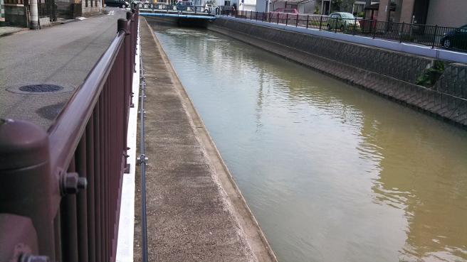 20140819大雨による濁流