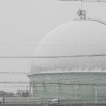 大雪警報(すでに解除)の発表を経て、愛知県一宮市でも積雪となりました