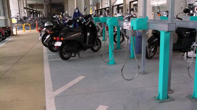 20150416駅周辺のバイク置場