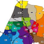 愛知県一宮市の地図データをご用意。白地図、連区別地図、広域地図など