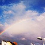 雨上がりに一宮市内でも虹が誕生しました