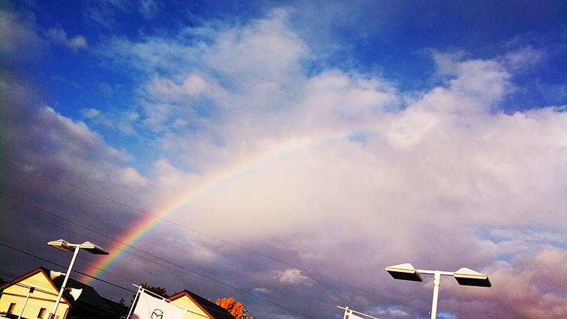20161213一宮市内で虹