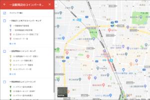 20171201一宮駅周辺のコインパーキング