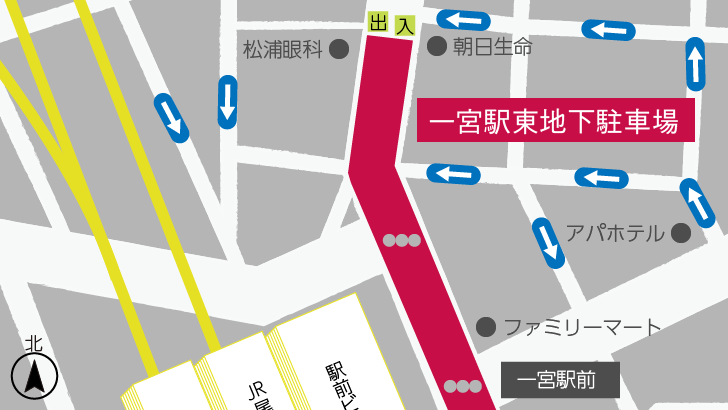 一宮駅東地下駐車場