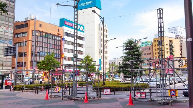 一宮駅東側のステージ