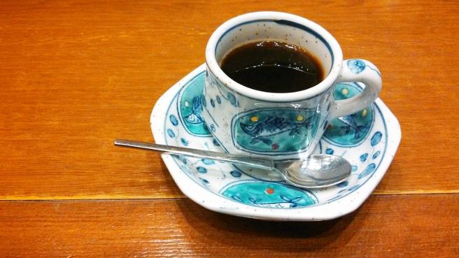 20141121甲羅のホットコーヒー