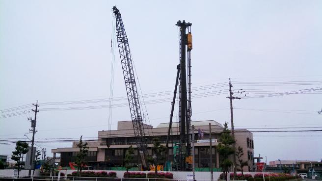 20150515木曽川文化会館の建設工事