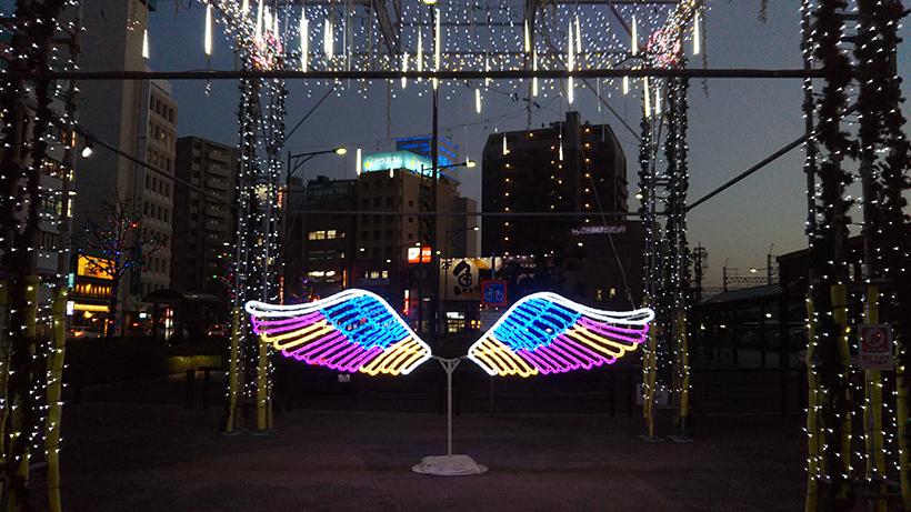 20171226一宮駅前イルミネーション