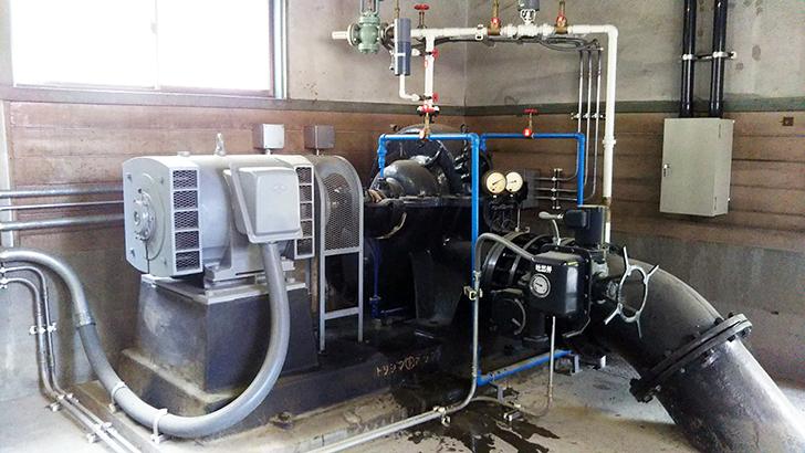 三重用水のポンプ20200415