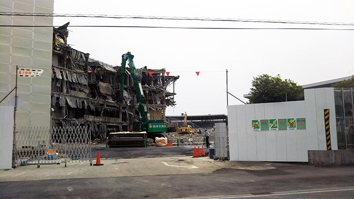 一宮競輪場の解体20200526